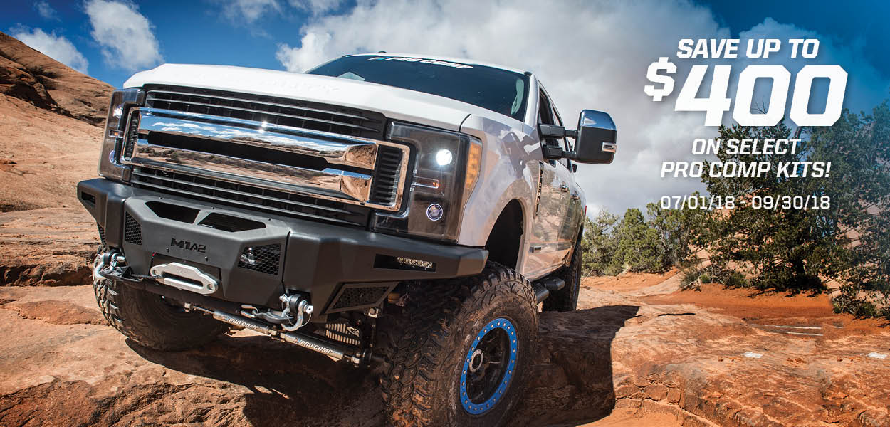 Save $400 on select Pro Comp Suspension Kits