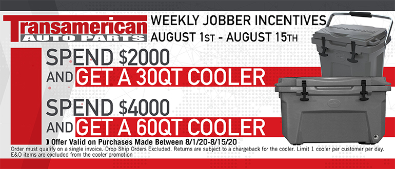 TAW August Jobber Incentive