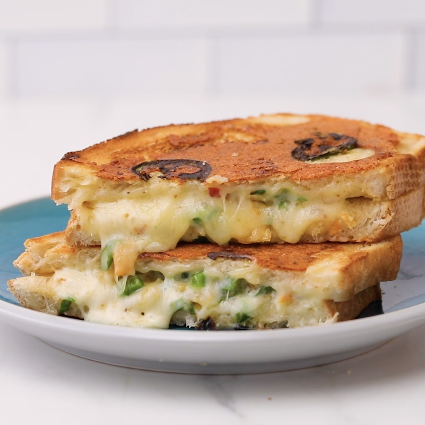 Ultimate Spicy Grilled Cheese