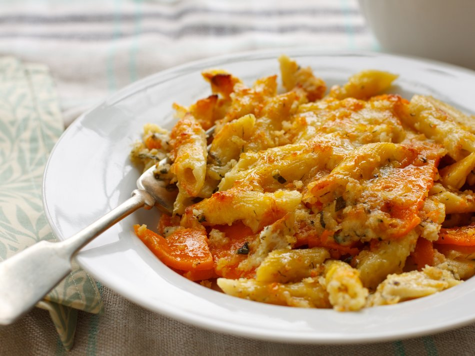 Sweet Potato Mac & Cheese Gratin