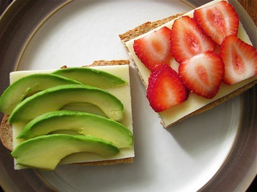 Avocado & Strawberry Grilled Cheese