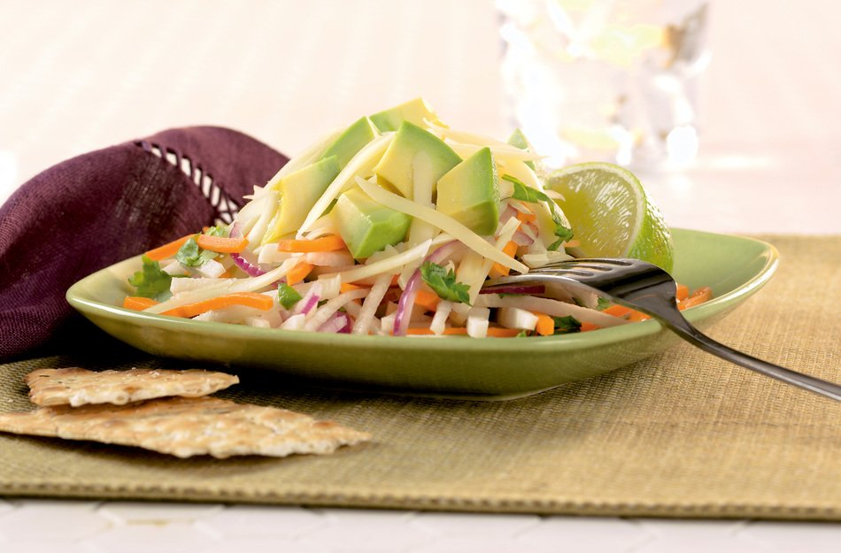 Jicama, Avocado & Cabot Cheddar Salad with Lime Dressing