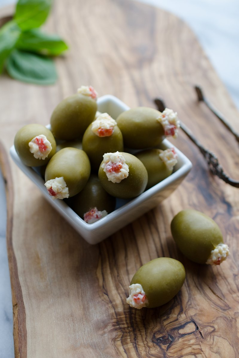 Pimento Cheese Stuffed Olives