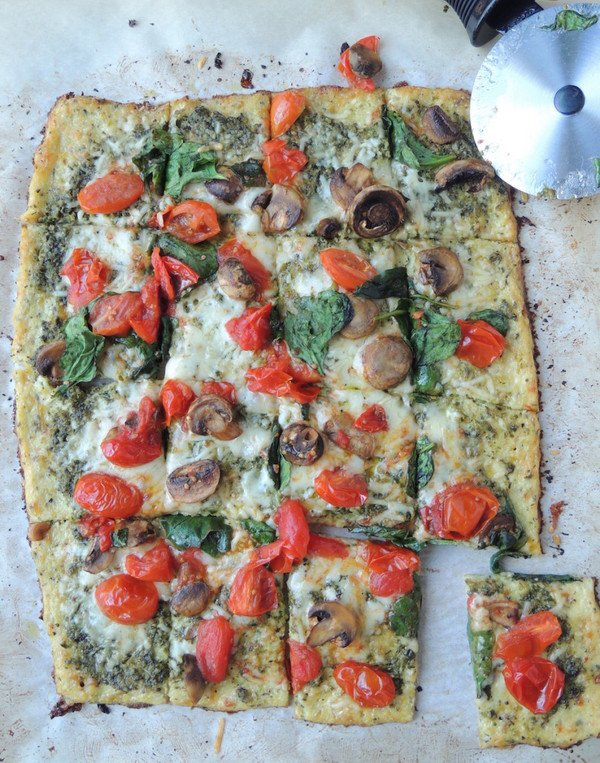 Pizza with Cauliflower Crust