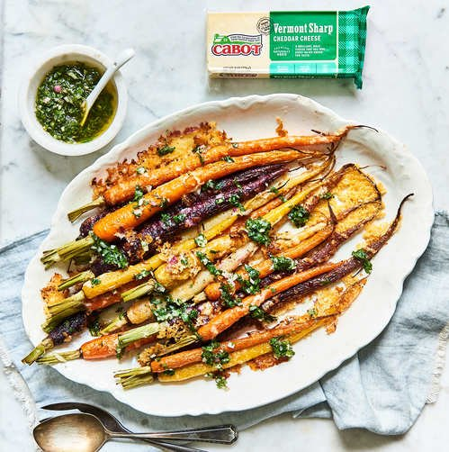 Roasted Carrots & Carrot-Top Chimichurri