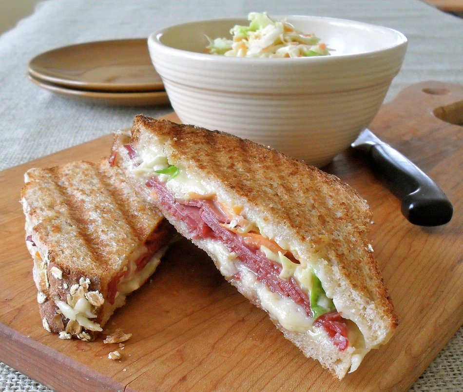 St. Paddy's Day Grilled Cabot Cheese Sandwiches