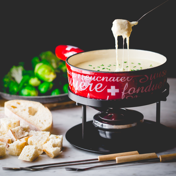 Cabot Cheddar & Goat Cheese Fondue
