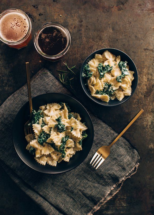 Stovetop Mac and Cheese with Kale & Alpine Cheddar