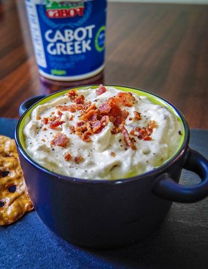 Bacon and Onion Yogurt Dip & Topping