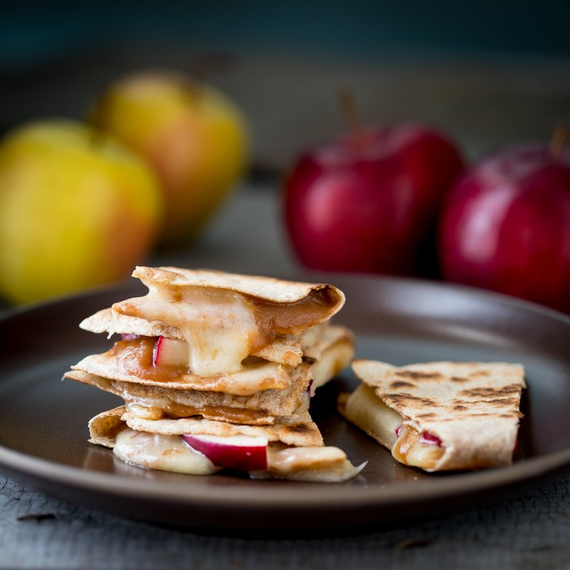 Easy Apple Cheddar Quesadilla Snacks