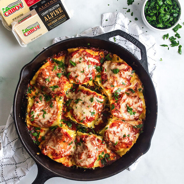 Cheesy Spinach Lasagna Roll Ups