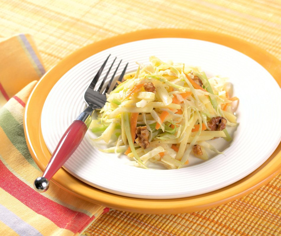 Cabbage, Apple and White Cheddar Slaw