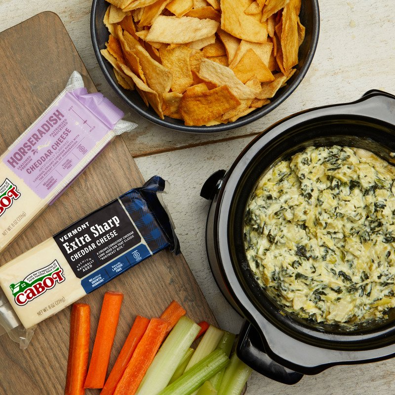 Five Mile Farm?s Cheesy Spinach Artichoke Dip