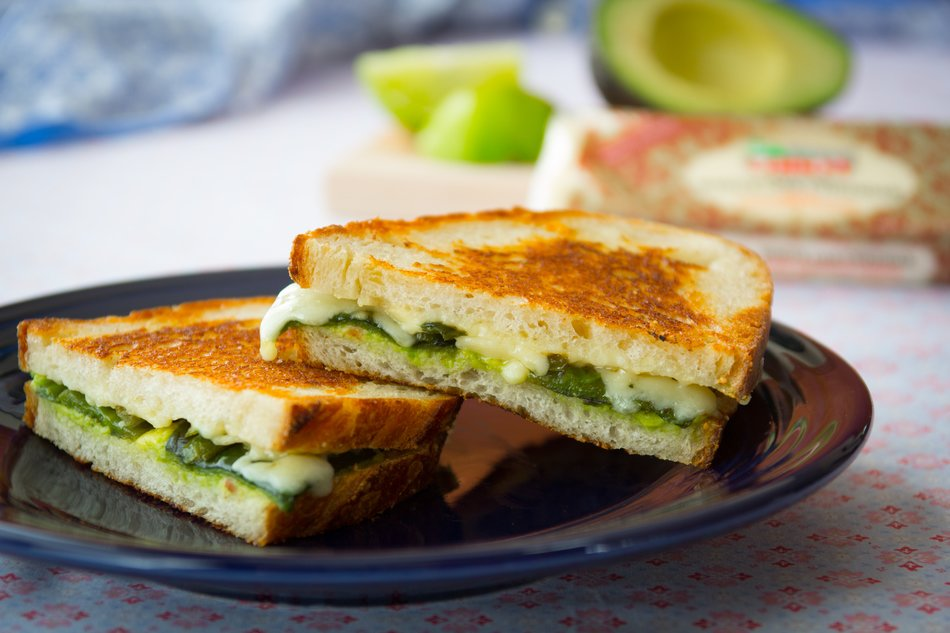 Poblano Grilled Cheese Sandwiches