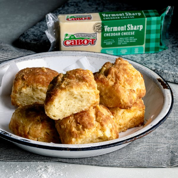 Air Fryer Cheddar Biscuits with Garlic Butter