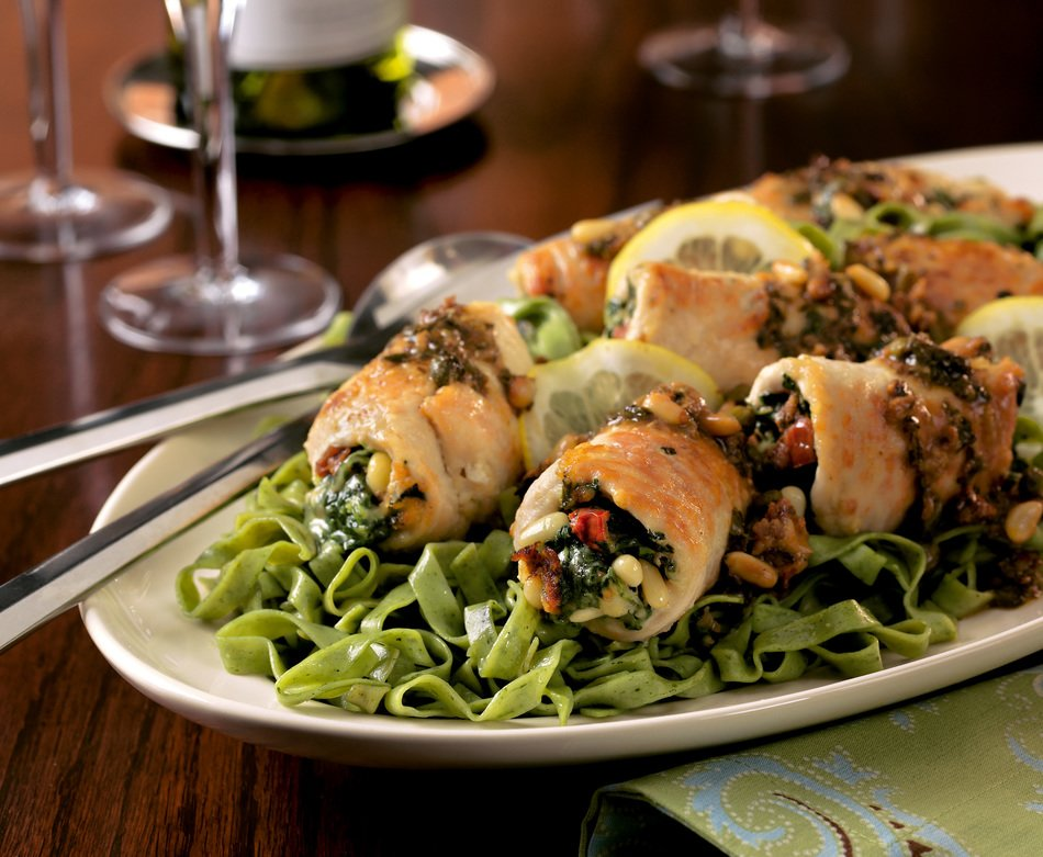 Mediterranean Turkey Roll-ups
