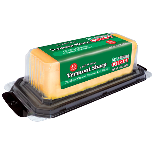 Cheddar Cheese Slices   Vermont Sharp Cheddar   Cabot Creamery