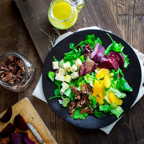 Beet & Orange Salad with Cheddar