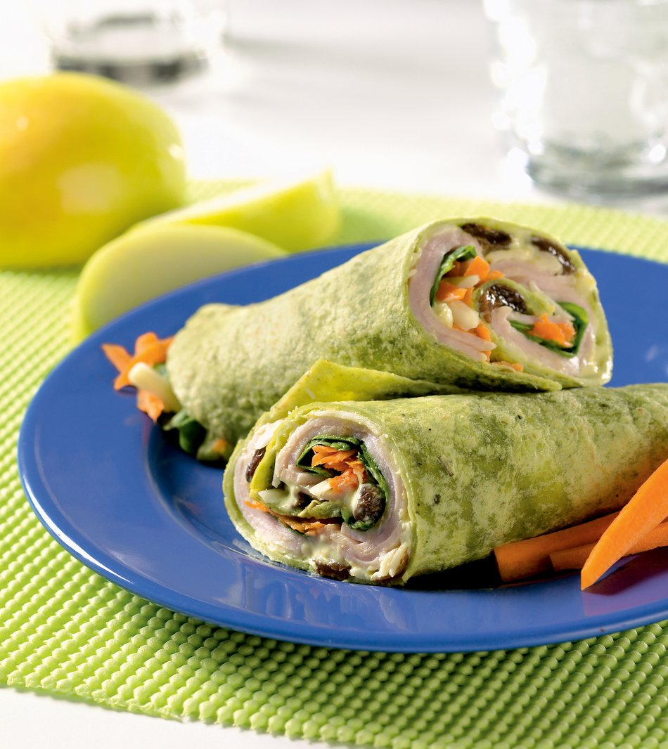 Curried Turkey Wraps Recipe
