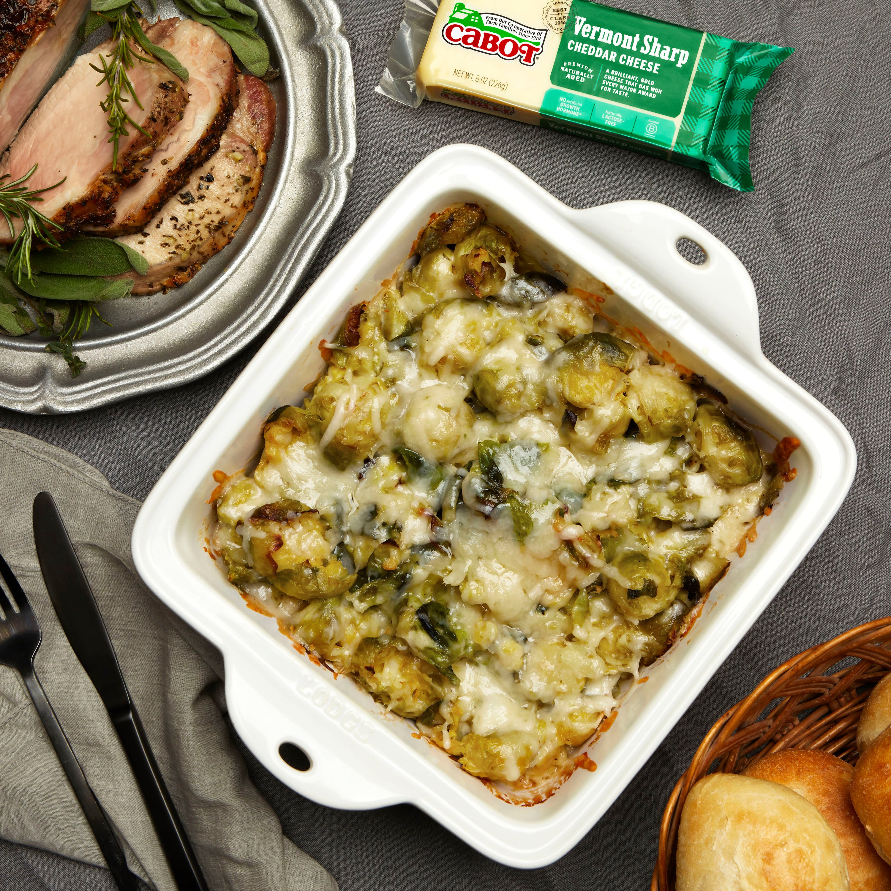 Richardson Farm's Smashed Brussels Sprouts With Cheese