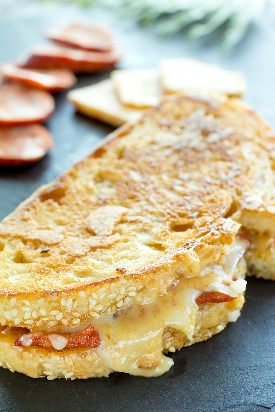 Cheddar & Chorizo Grilled Cheese Recipe with Cabot Pepper Jack