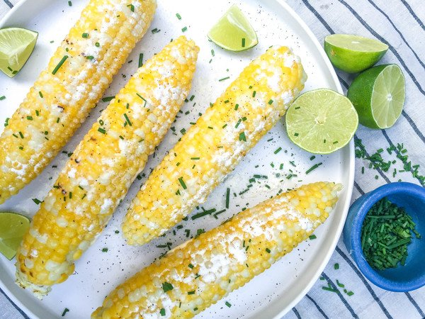 Cheddar and Lime Sweet Corn