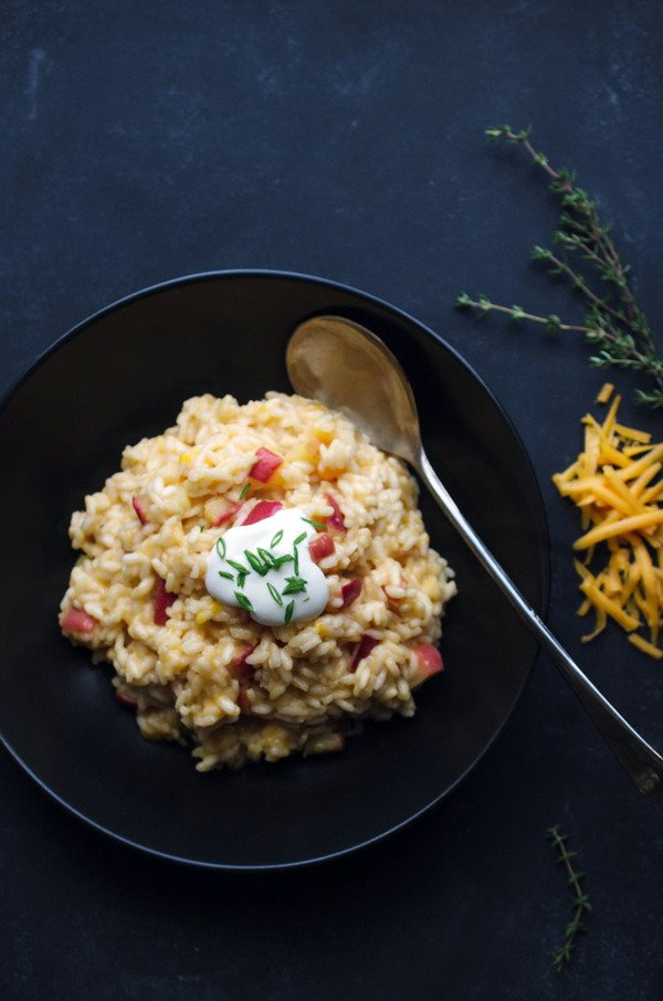 Apple Risotto with Cabot Cheddar