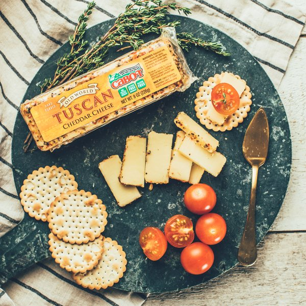 Hand Rubbed Tuscan Cheddar Cheese Cabot Creamery