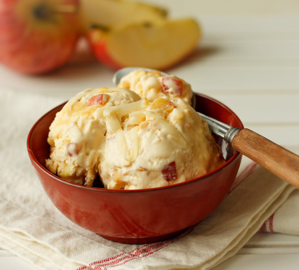 Caramel Apple & Cheddar Ice Cream