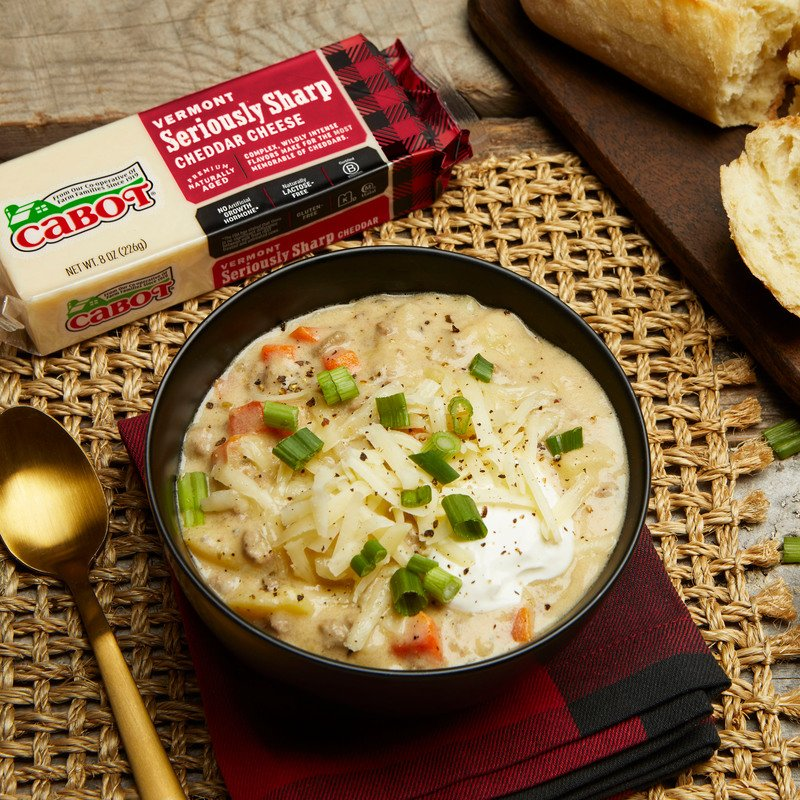 Barstow's Longview Farm Cheeseburger Chowder