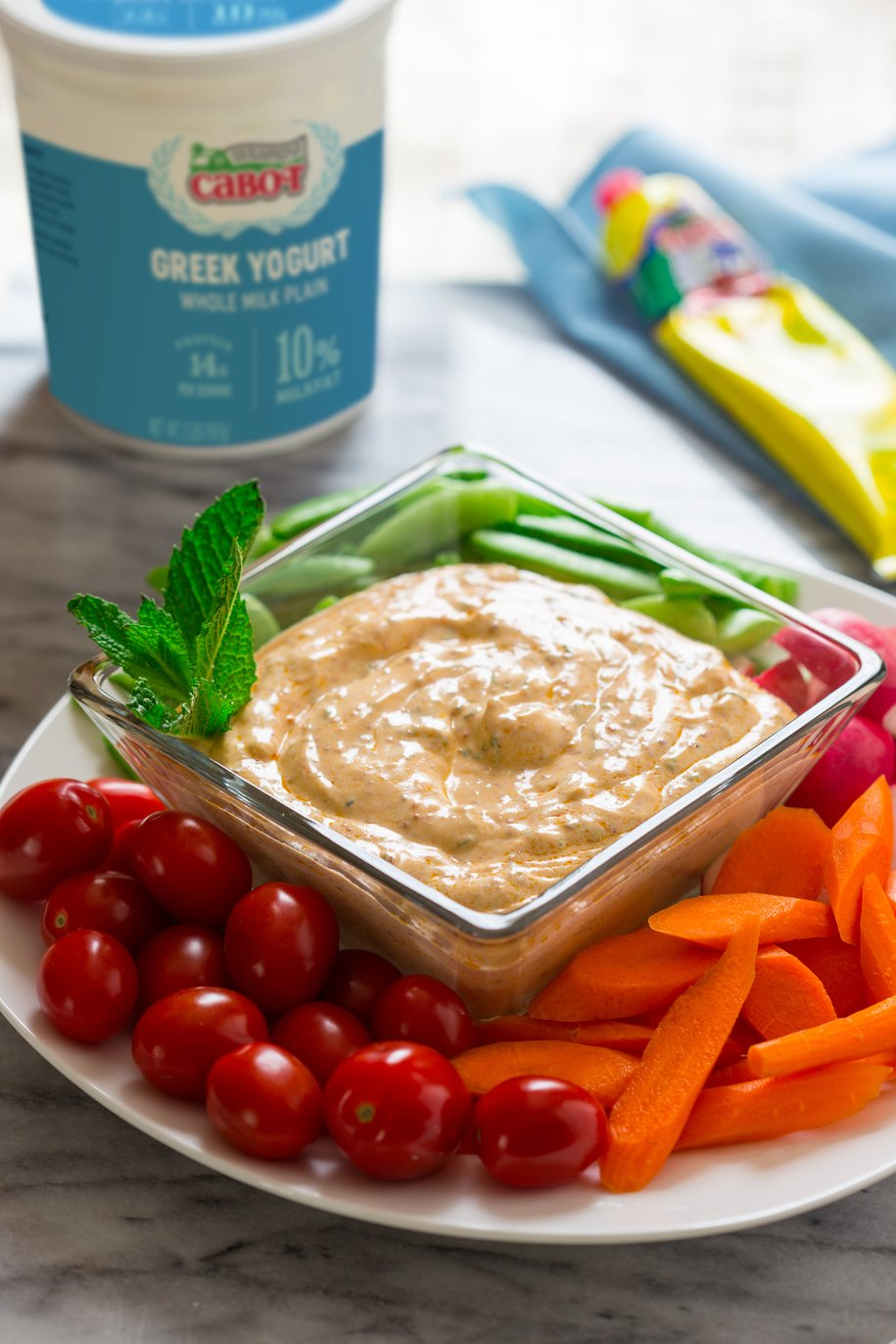Harissa and Mint Greek Yogurt Dip