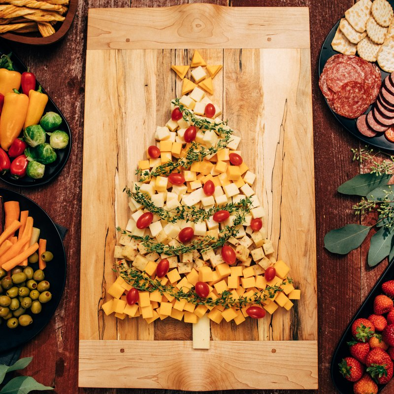 Christmas Cheese Board Ideas.Festive Cabot Cheddar Tree