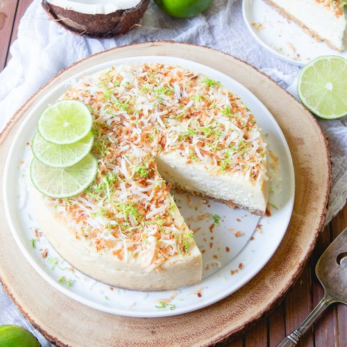 Instant Pot Coconut Lime Cheesecake