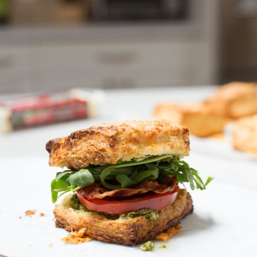 Cheddar Biscuit Sandwich with Seriously Sharp Cheddar
