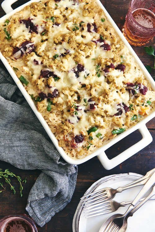 Cheesy Rice Thanksgiving Bake
