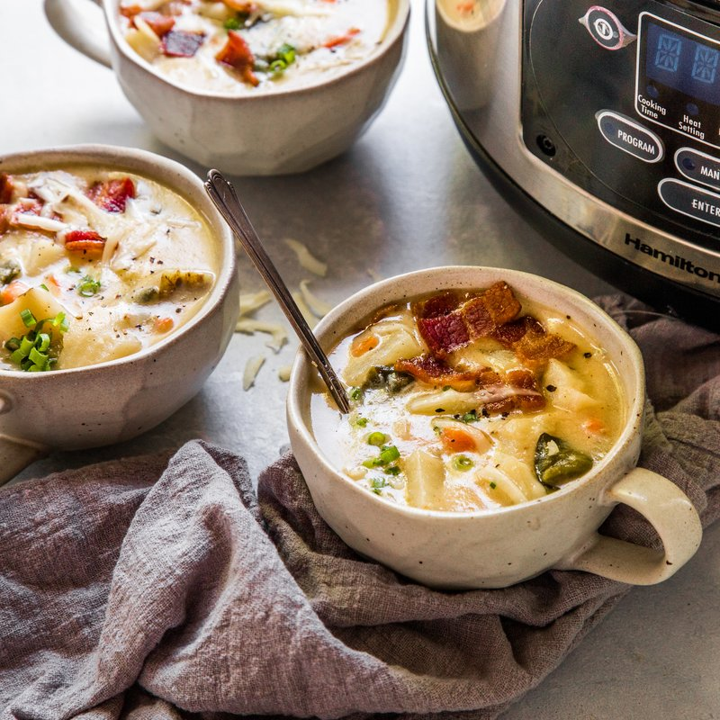 Slow Cooker Spicy Hot Potato Soup