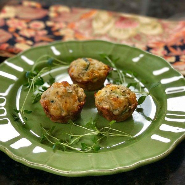 Healthy Cheddar Zucchini Muffins
