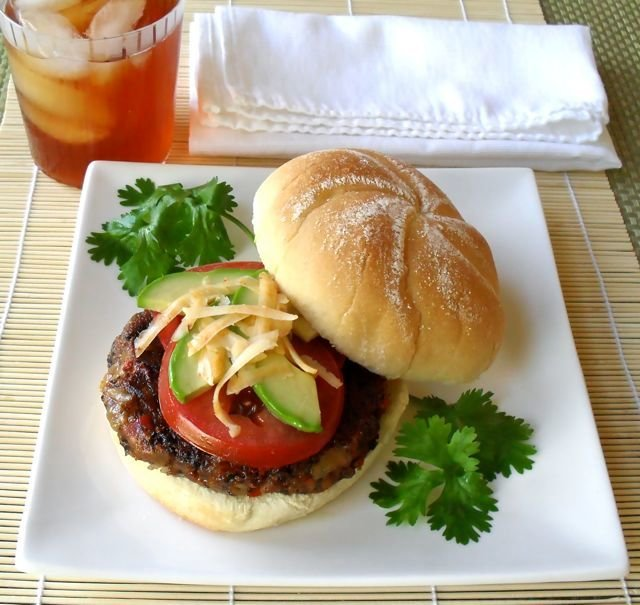 Black Bean & Cheddar Burgers