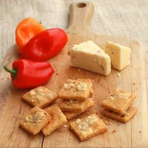 Pepper Jack Cornbread Crackers