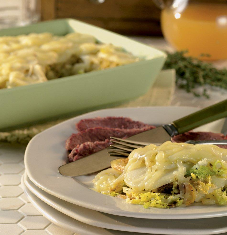 Potato, Cabbage & Cabot Cheddar Casserole