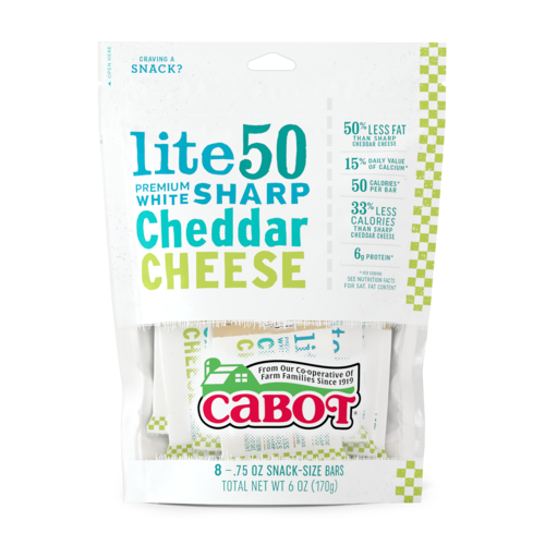 Lite50 Sharp Cheddar Cheese Snack Bars package image
