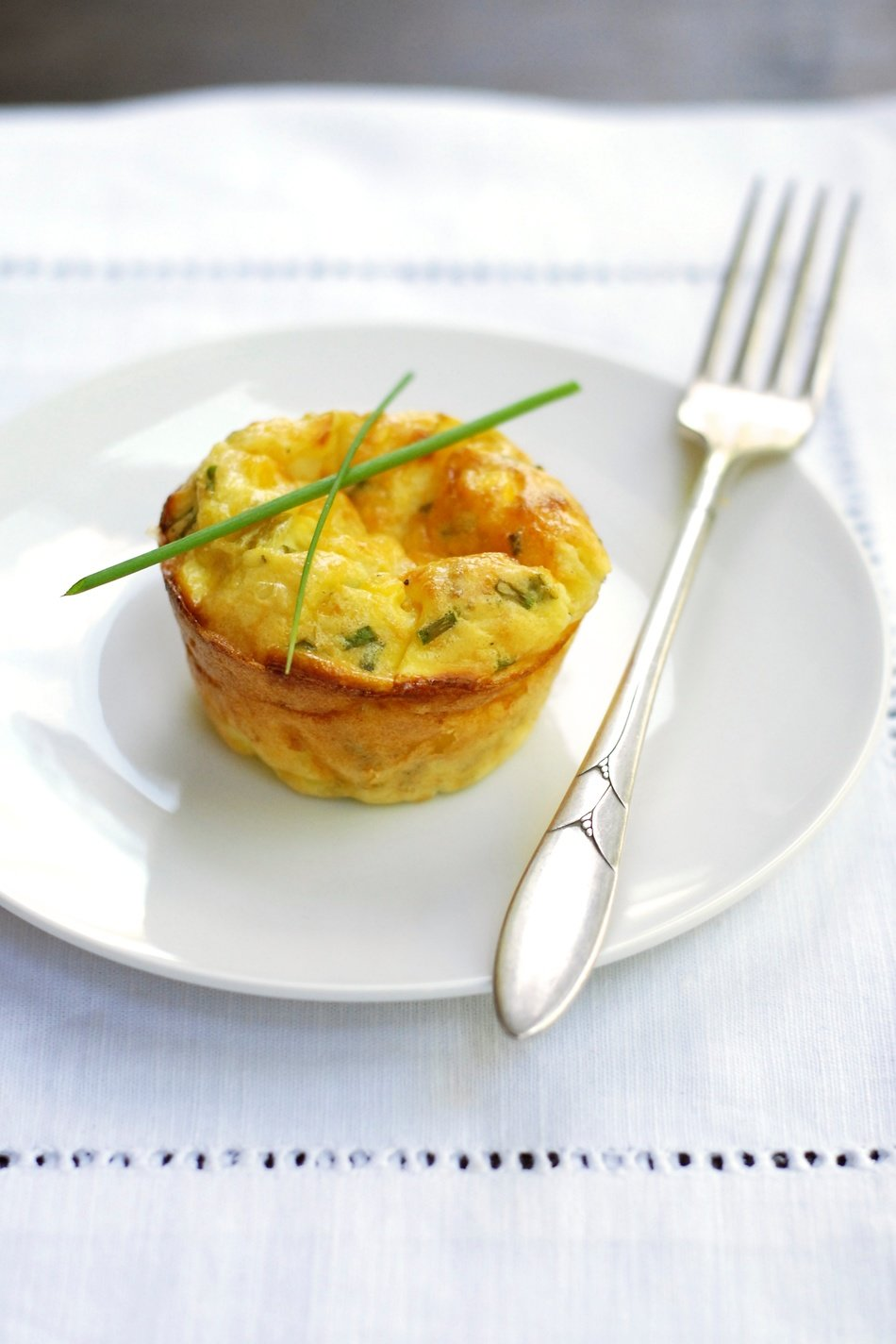 Chive, Cheddar & Green Chili Corn Mini-Quiches