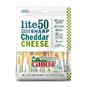 Lite50 Sharp Cheddar Cheese Snacks