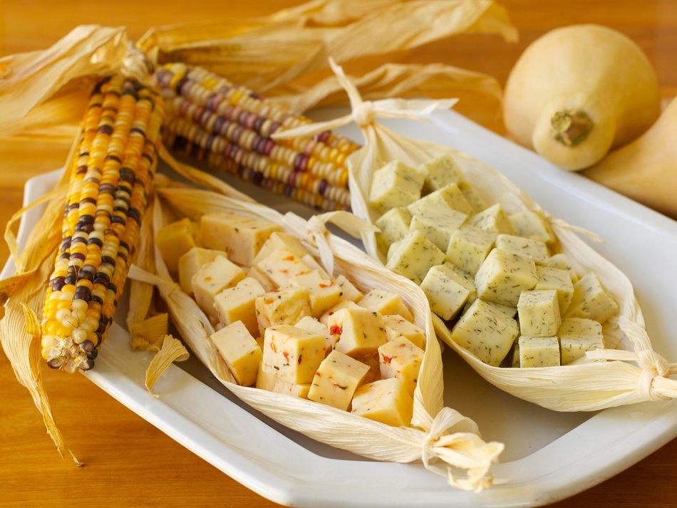 Cheddar in Corn Husk Bowls