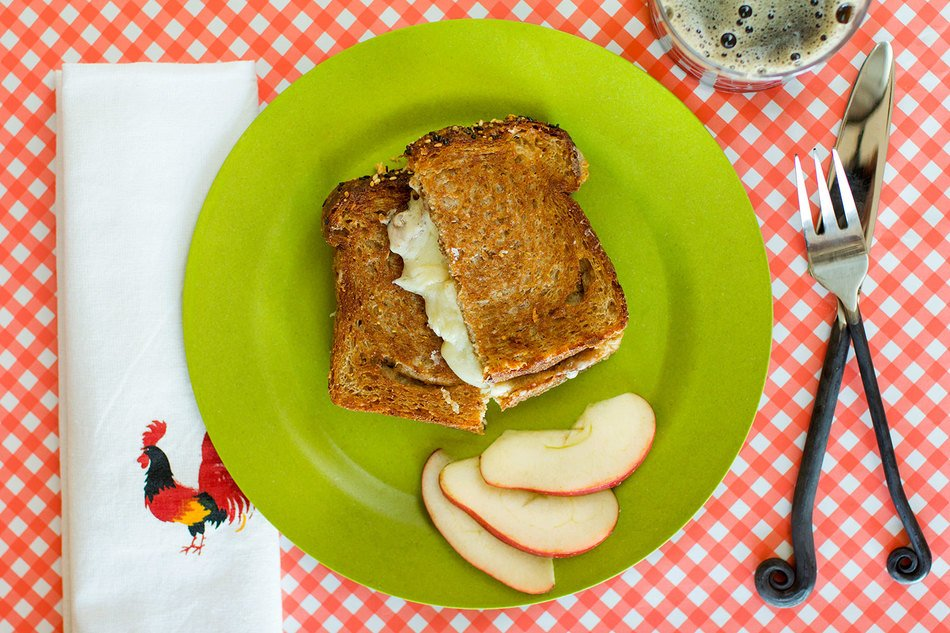 Farm Girl's Fave Grilled Cheese and Apple Sandwich
