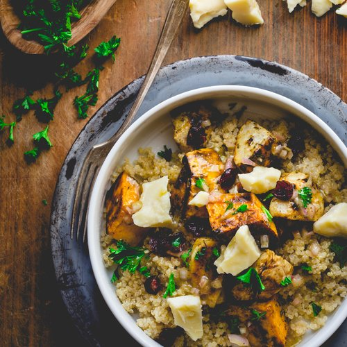 Roasted Roots Power Bowl with White Oak Cheddar