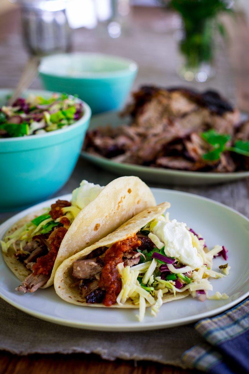 Yogurt Marinated Slow Roasted Pork Tacos