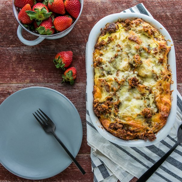 Cheesy Breakfast Sausage Casserole
