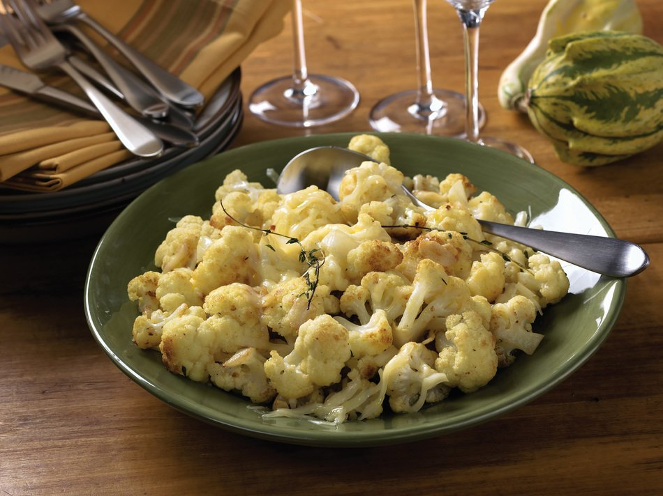 Roasted Cauliflower & Cabot Cheese