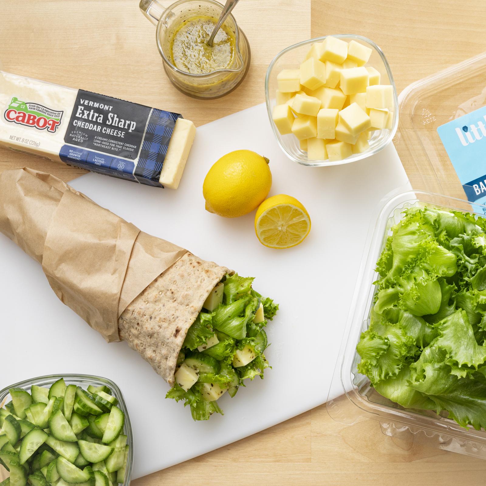 Miso Cheddar Caesar Salad Wrap